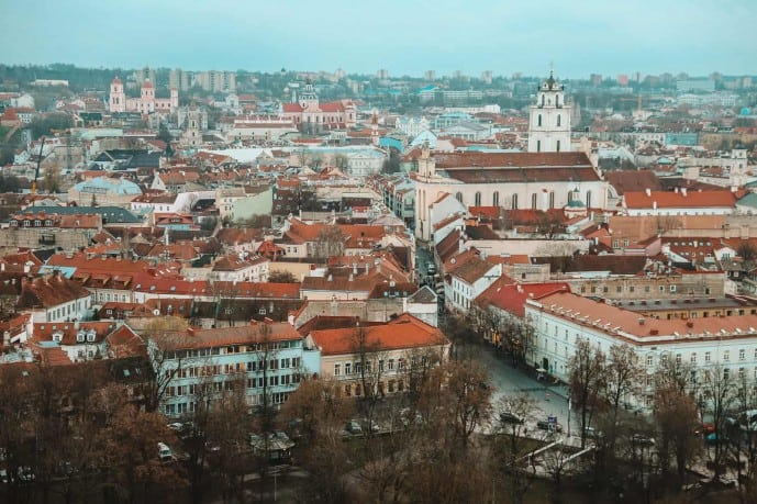 View from the Gediminas Tower | Viewpoints in Vilnius