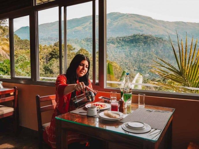 Mistletoe Munnar restaurant views