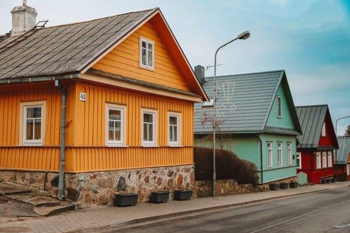 Karaite traditional houses in Trakai