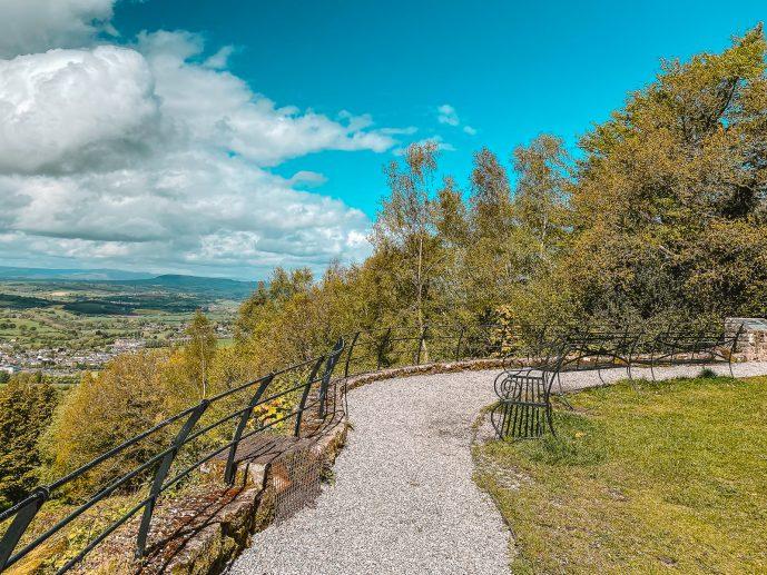 Benches at the Kymin Viewpoint