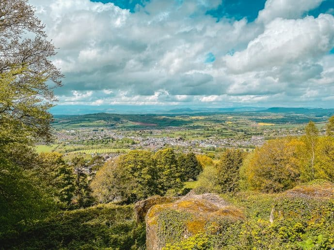 What you can see from the Kymin Viewpoint