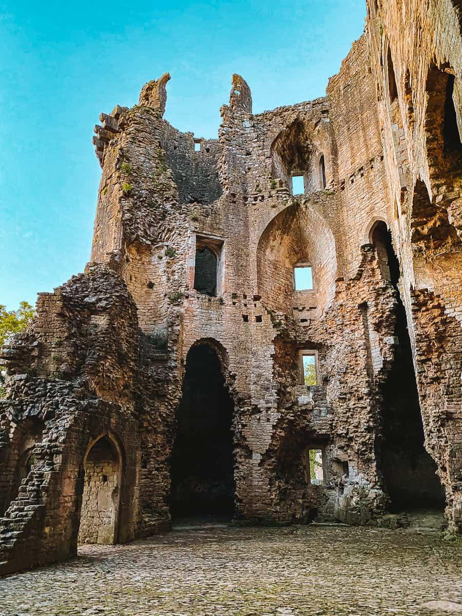 Inside Nunney Castle ruins Somerset