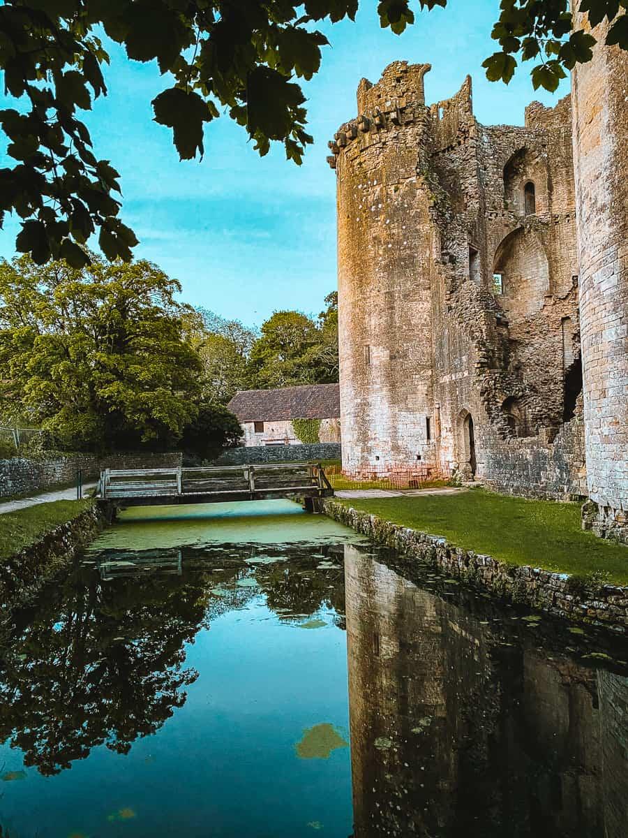Nunney Castle moat
