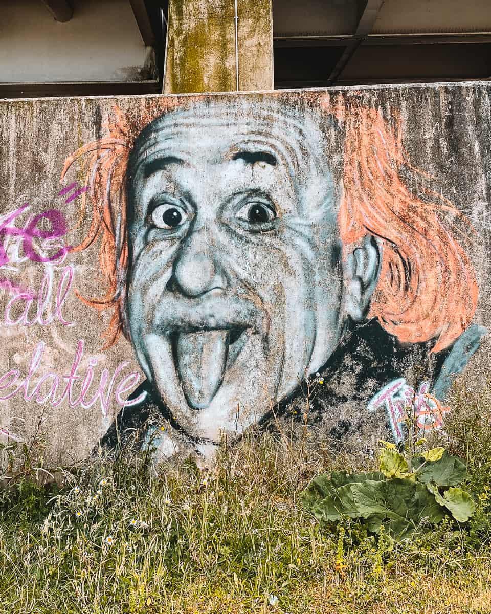 Albert Einstein Graffiti Gloucester