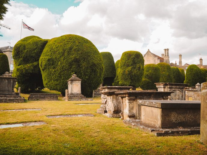 Painswick Church Garden Cotswolds