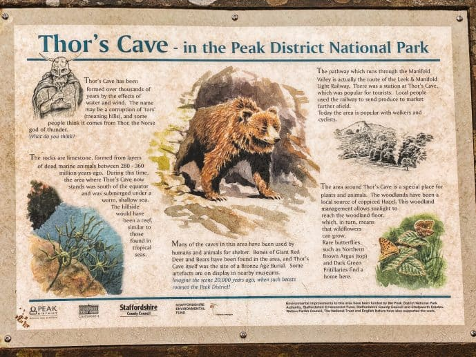 Thor's Cave history