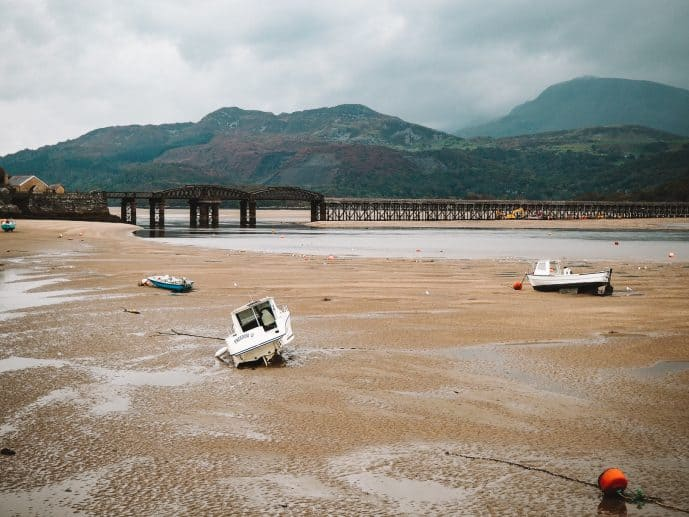 Barmouth Beach with the famous Barmouth Bridge in the distance!