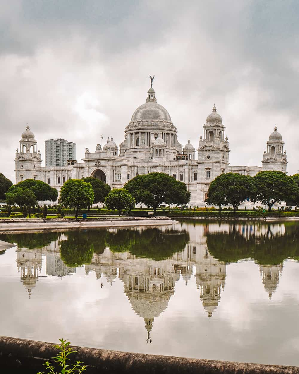 A perfect reflections of The Victoria Memorial