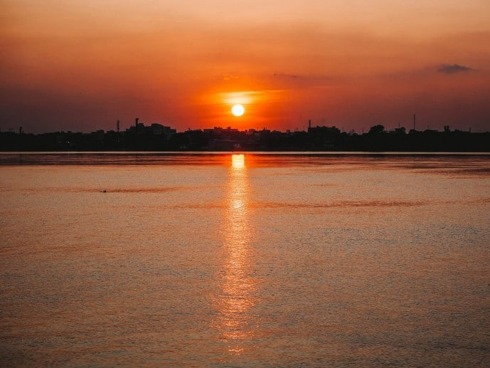 Sunset over Hooghly River, Kolkata