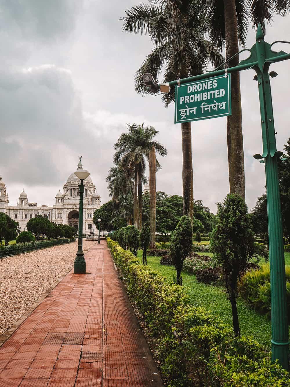 Drone photography at the Victoria Memorial Kolkata