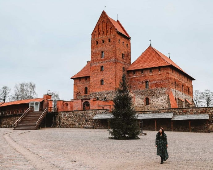 Inside Trakai Island Castle