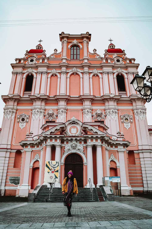 The Church of St Casimir | Pink church in Vilnius | Instagram spots in Vilnius