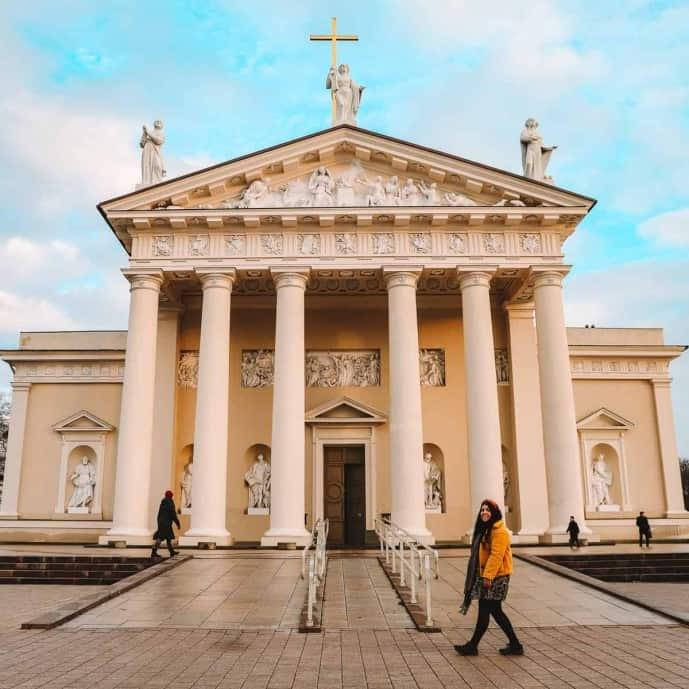 Vilnius Cathedral, Cathedral Square | Instagram Spots in Vilnius