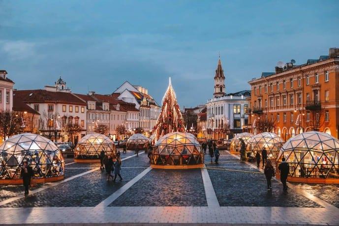 Transport in Vilnius | Vilnius Town Hall Square
