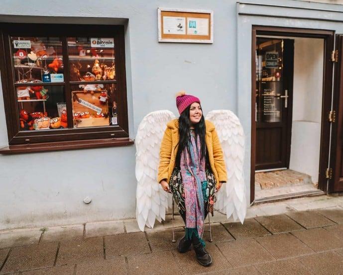 Things to do in Uzupis | Angel of Uzupis | Instagram spots in Vilnius