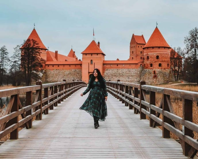 Trakai Castle Bridge Instagram Spots in Vilnius
