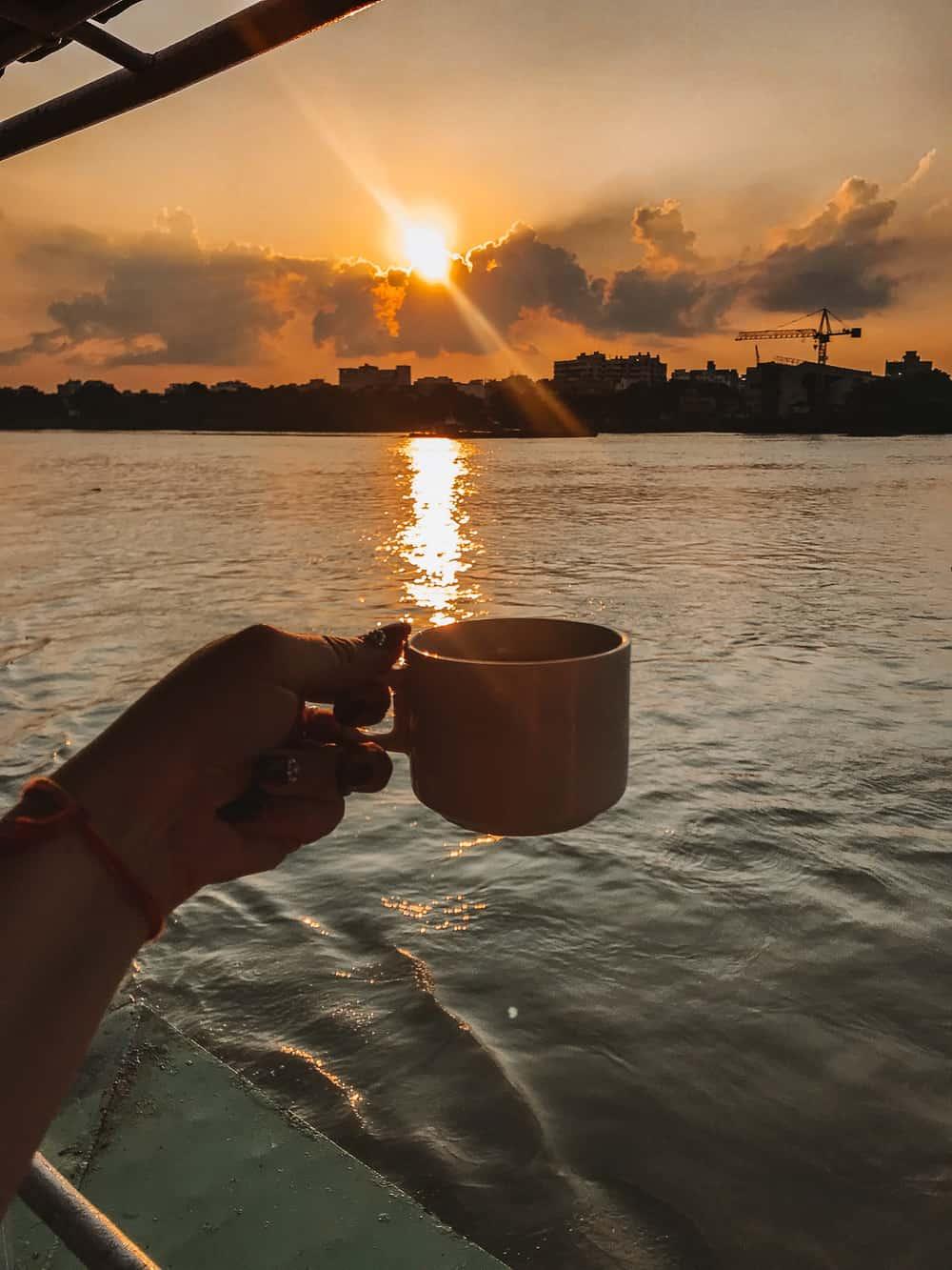 Ganges river cruise in Kolkata