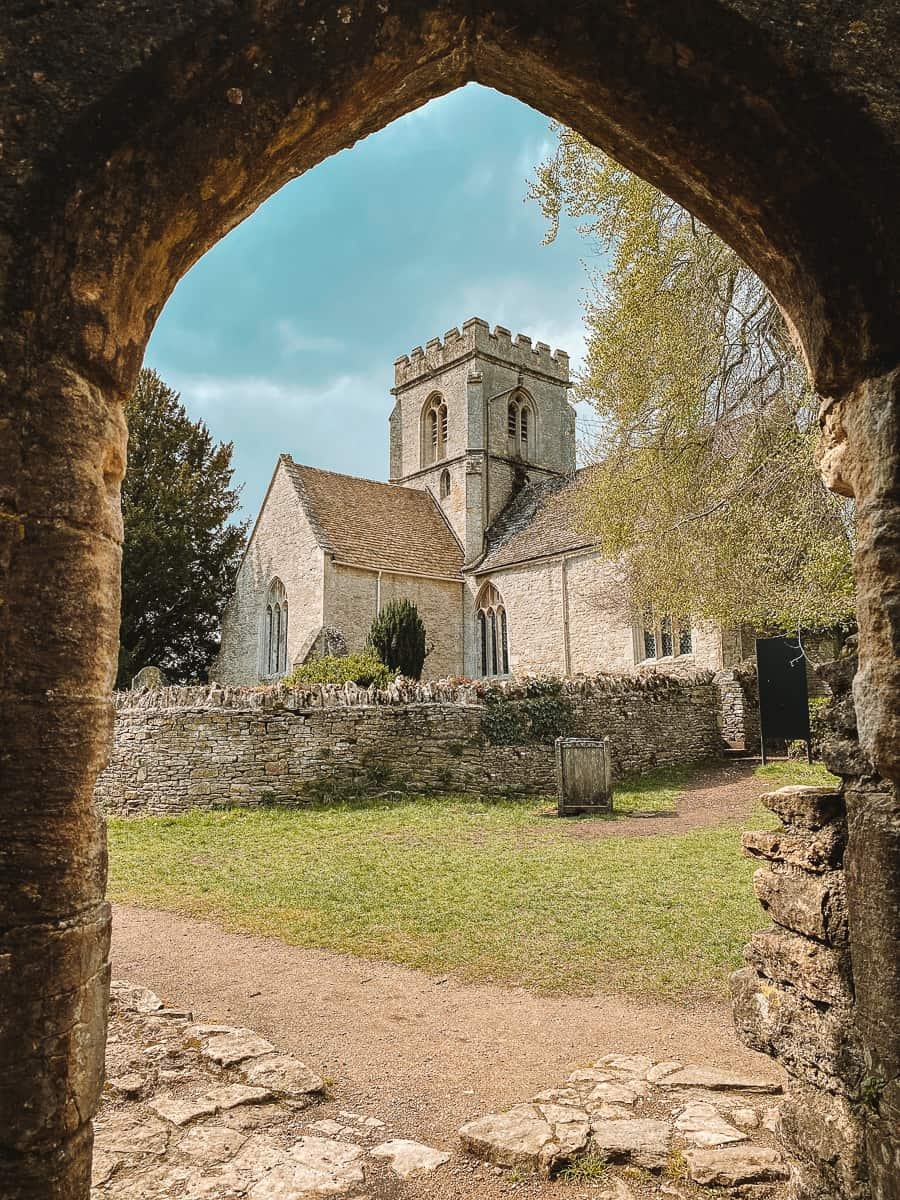 St Kenelm's Church from Minster Lovell Hall ruins