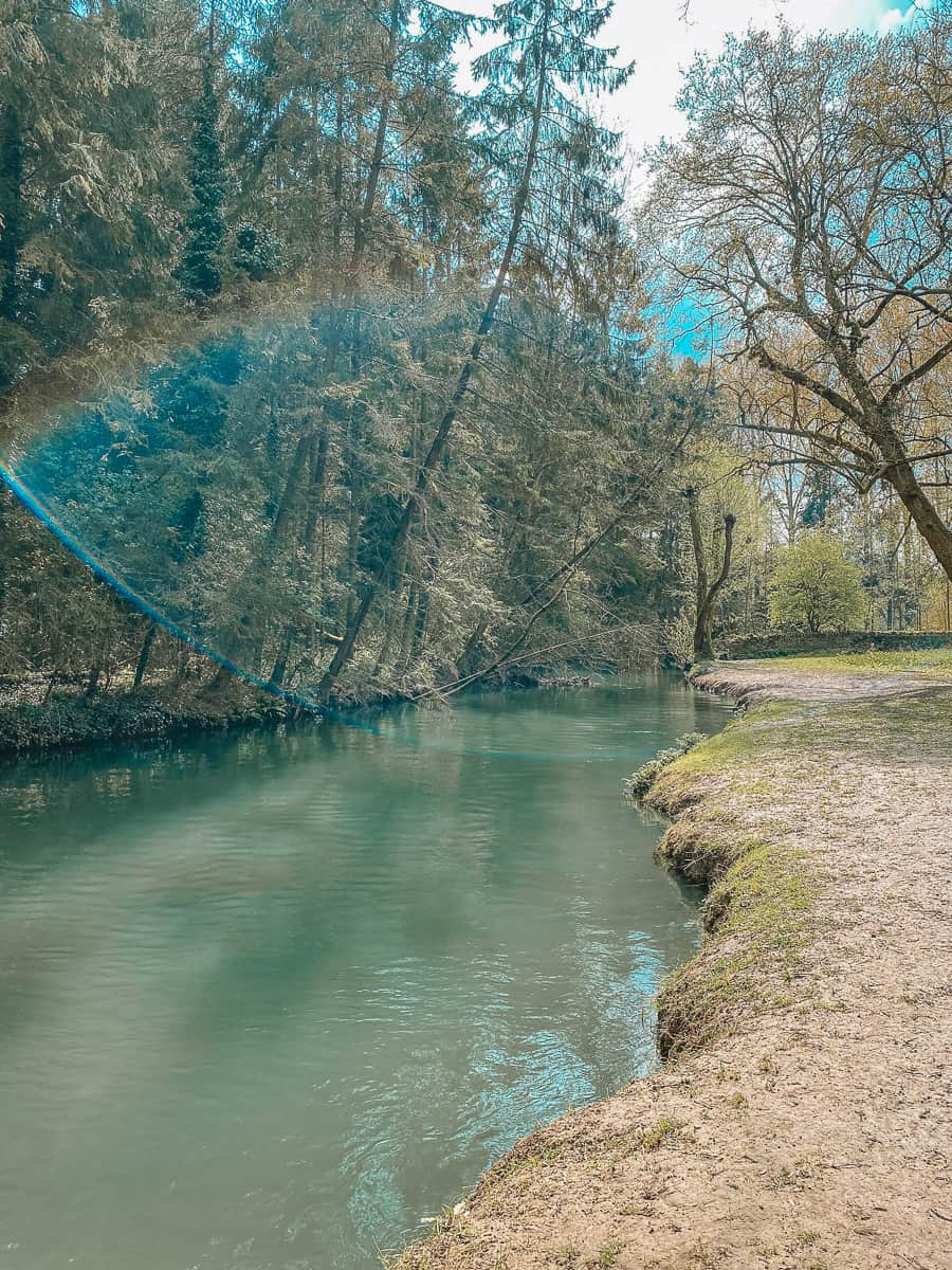 The River Windrush by Minster Lovell Hall