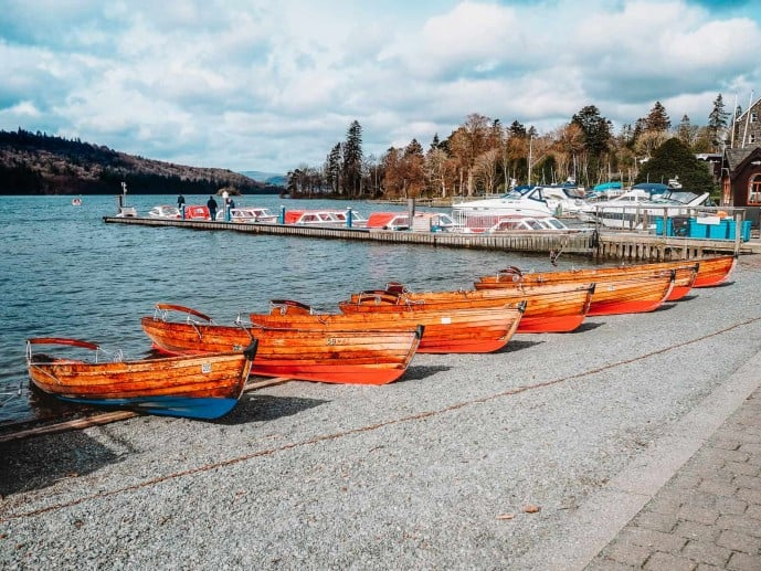 Lake Windermere Boat Hire Station at Bowness