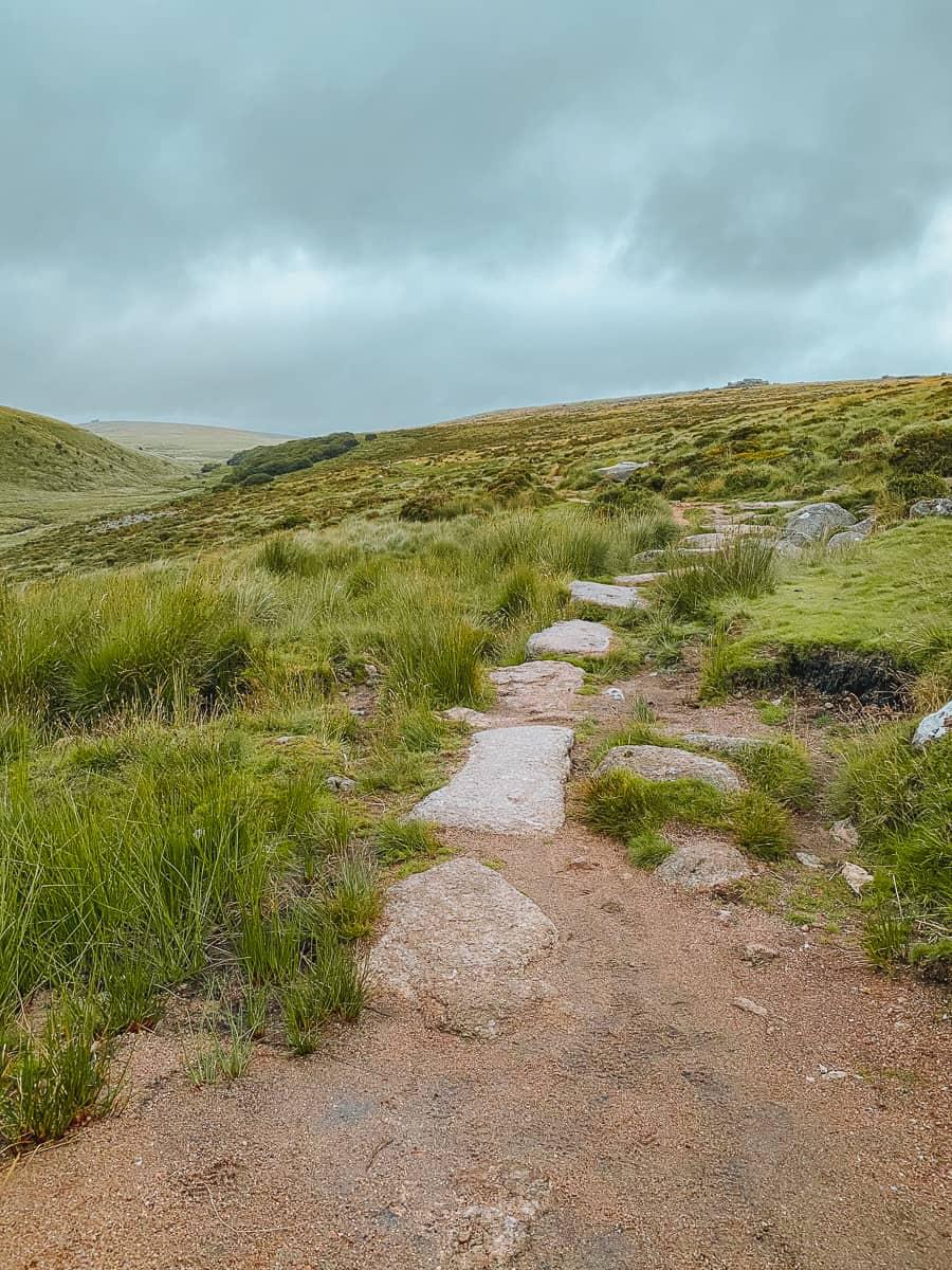 stepping stones on Wistmans wood walk