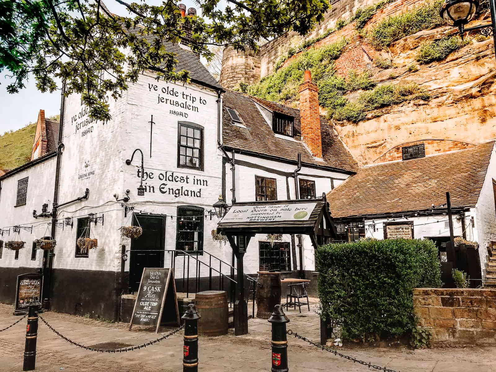 The Ye Olde Trip to Jerusalem in Nottingham