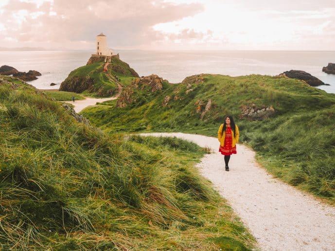Ynys Llanddwyn tidal island Anglesey