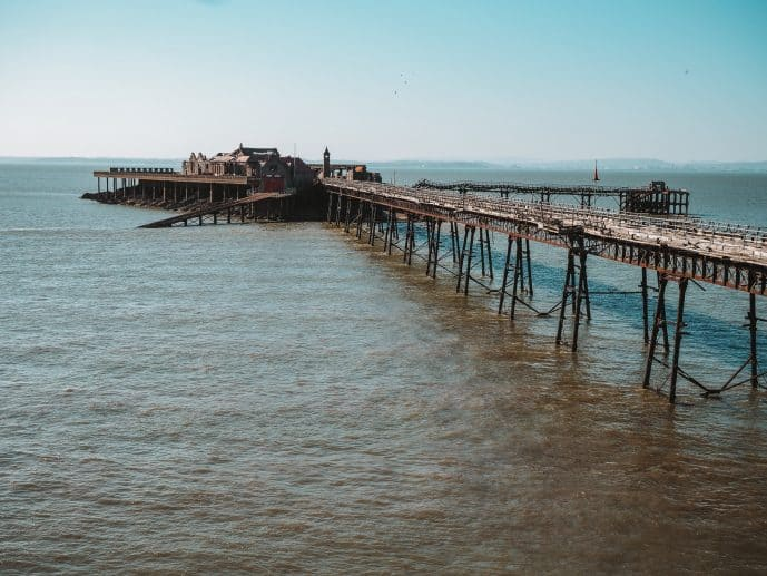 A view of Birnbeck Pier from Anchor Head