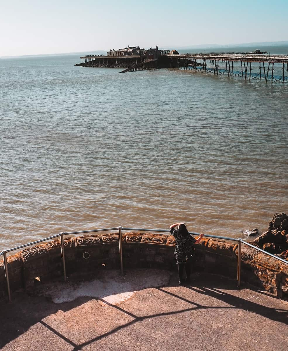 Looking out over Birnbeck Pier from Anchor Head, Weston-super-Mare