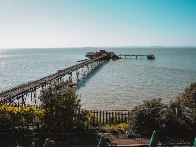 A view of Birnbeck Pier from Prince's Consort Gardens