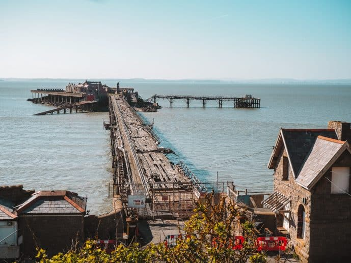 Birnbeck Pier from the mainland