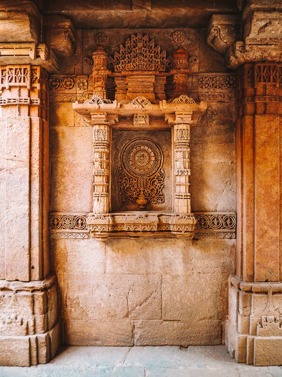 Adalaj Stepwell Carving of the water of life