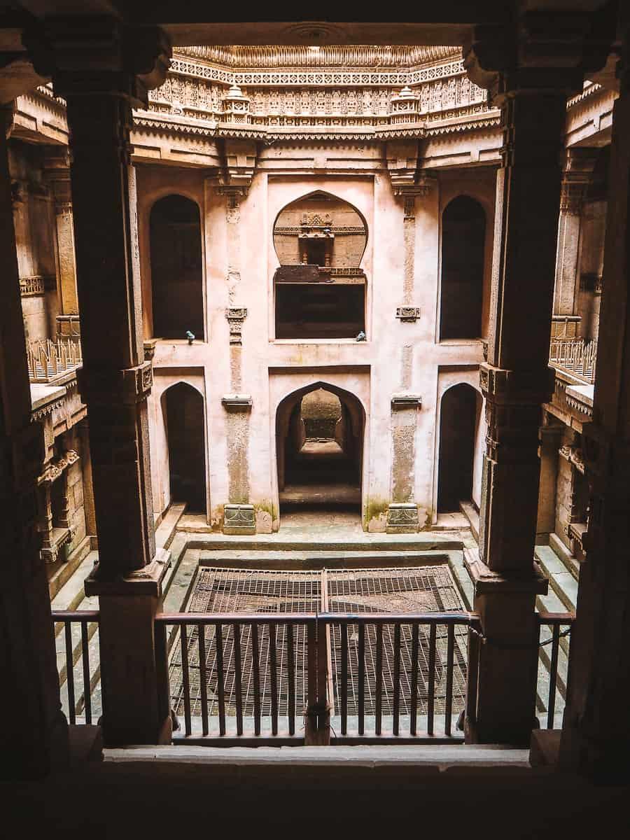 Inside the bottom of Adalaj Stepwell Gujarat