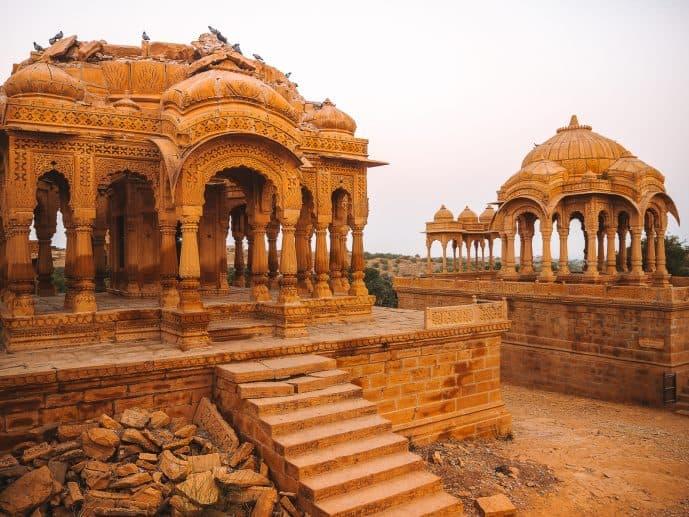 Bada Bagh Golden Cenotaphs in Jaisalmer Rajasthan