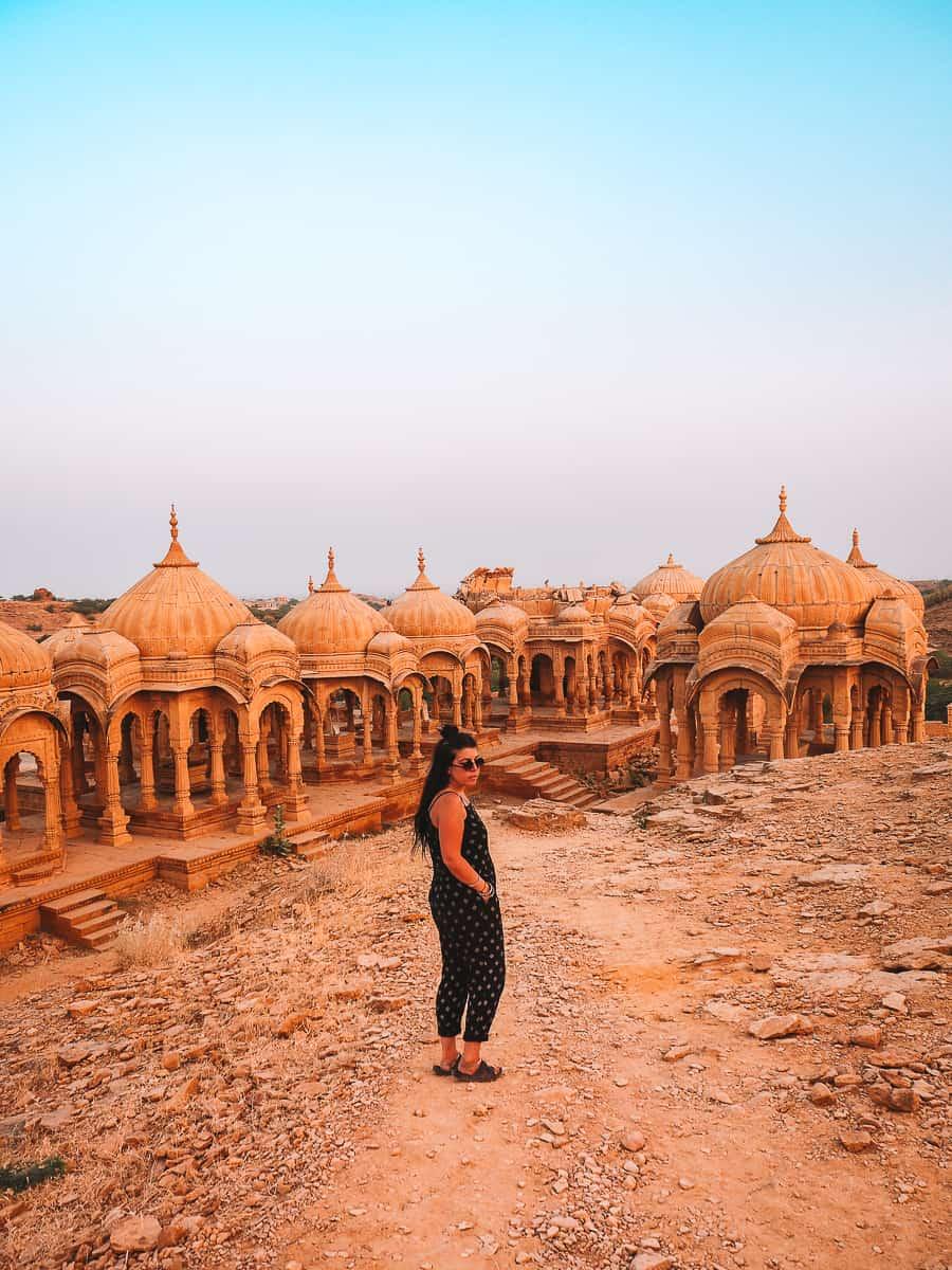 British Girl at Bada Bagh Jaisalmer