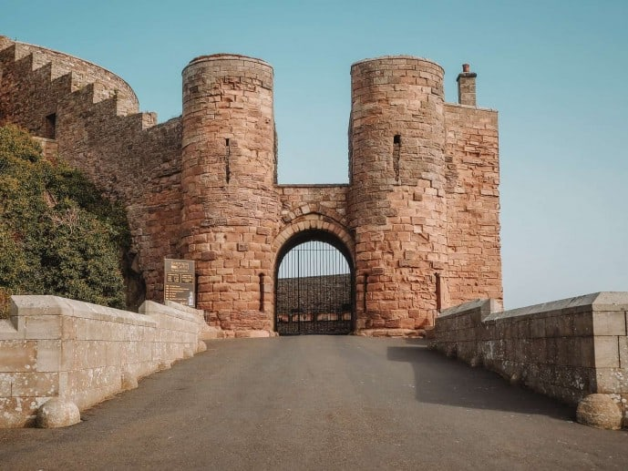 Entrance gate to Bamburgh Castle