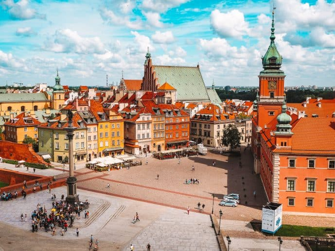 Bell Tower of St Anne's Church viewing platform Warsaw