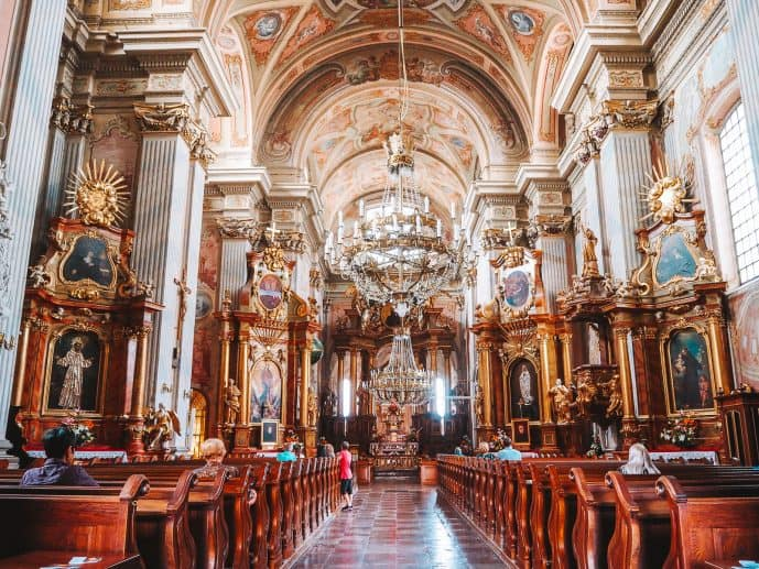 Interior of St Anne's Church Warsaw