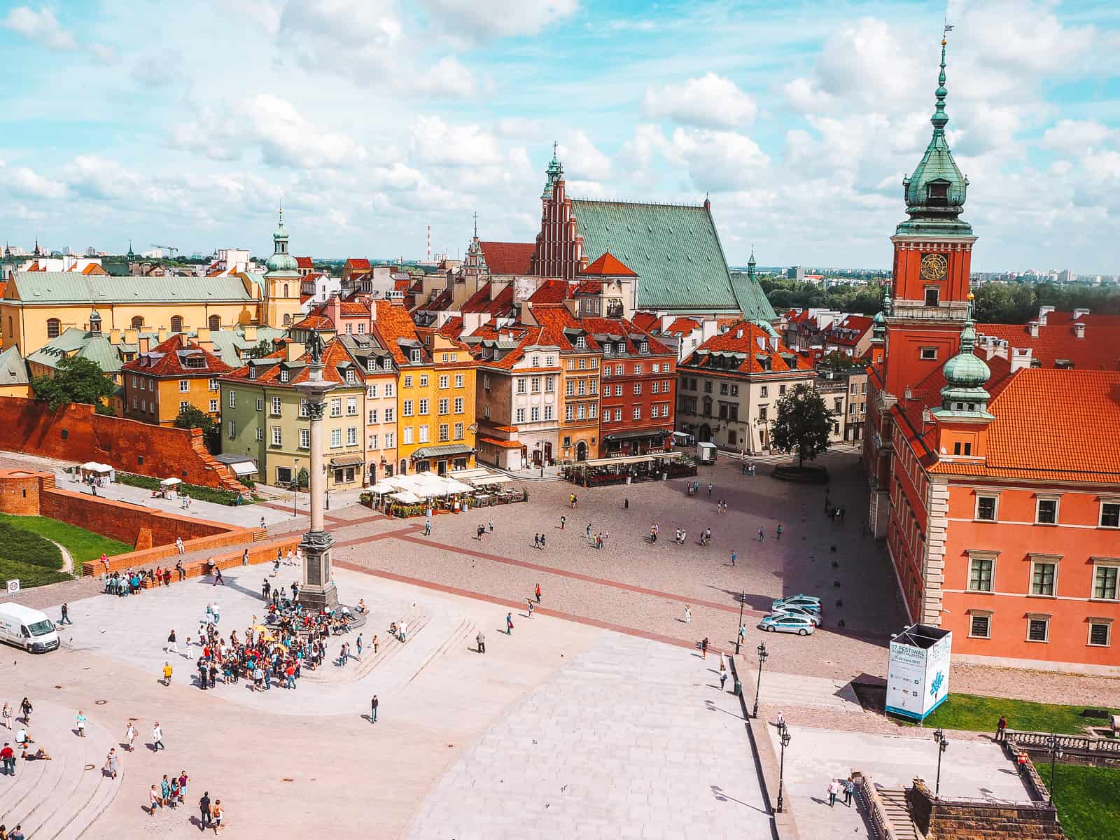 The view from the Bell Tower of St Anne's Church Warsaw Observation Deck