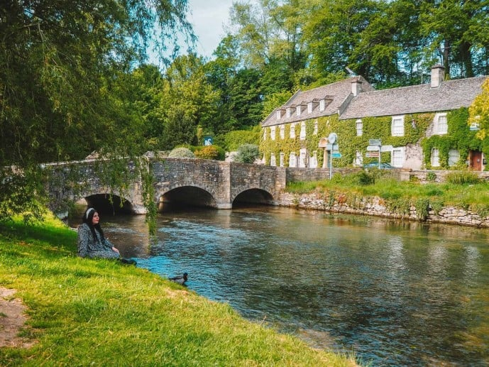 Bibury Village River Coln Arched Bridge