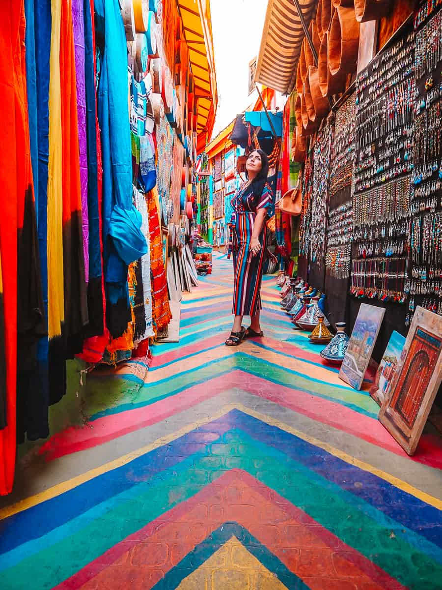 Rainbow Street in Fes