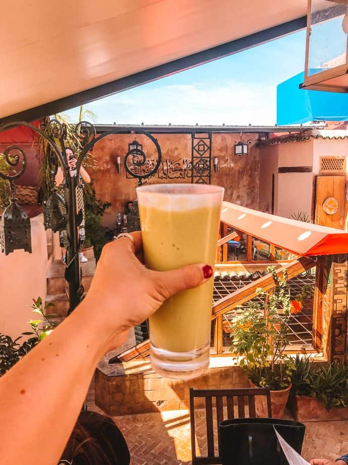 Cafe Clock Avocado Smoothie in Morocco