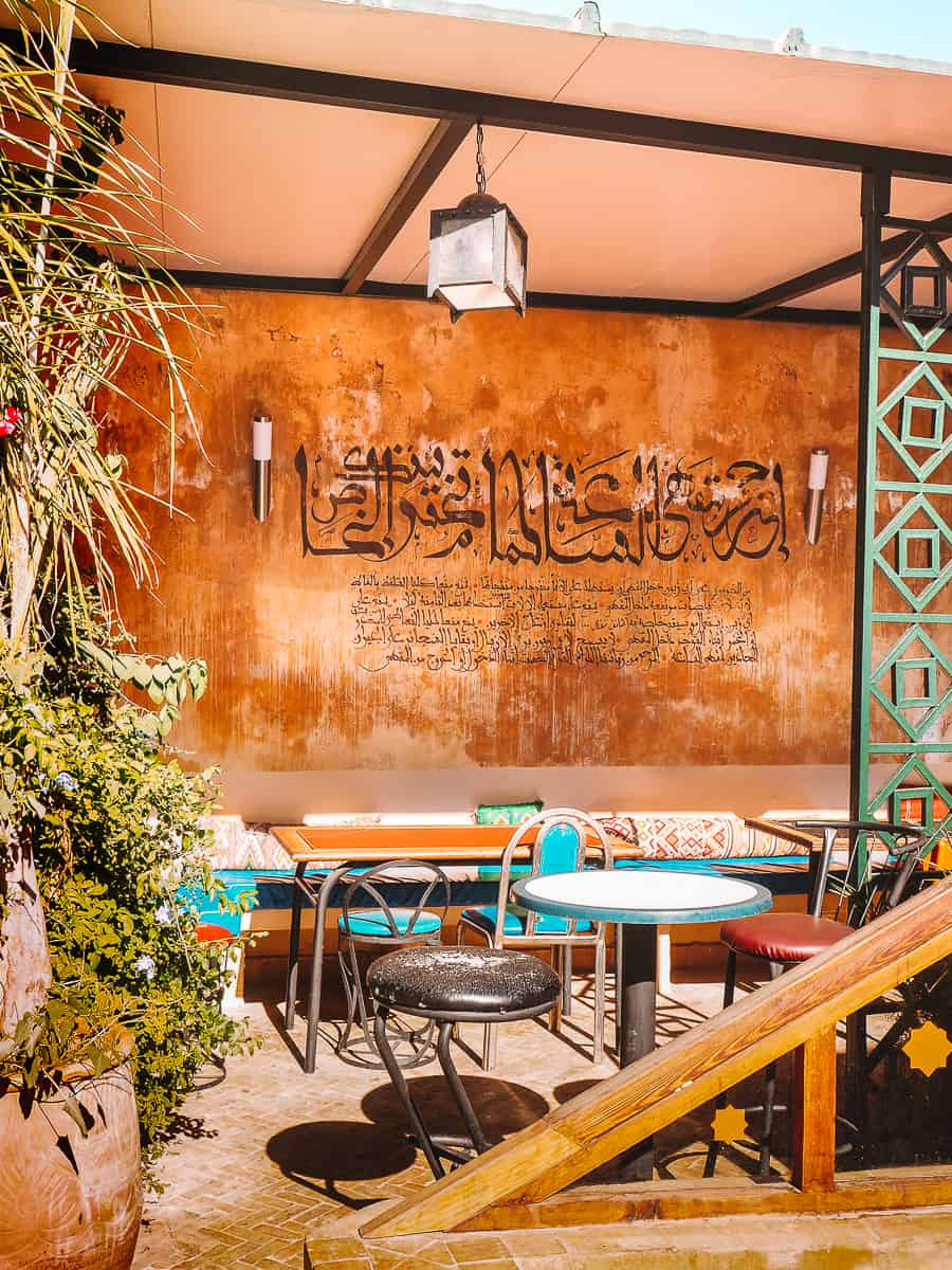 Cafe Clock Terrace in Fes Morocco