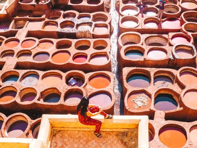 Fez Tannery viewpoint