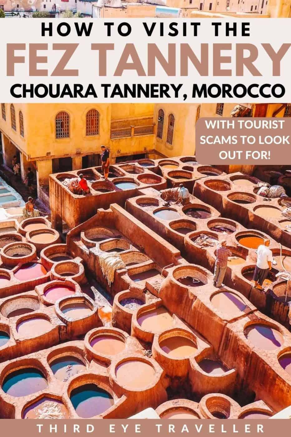 Fez Tannery Chouara Tannery Morocco