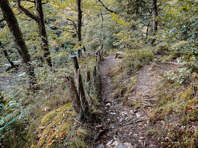 Conwy Falls walking path steep