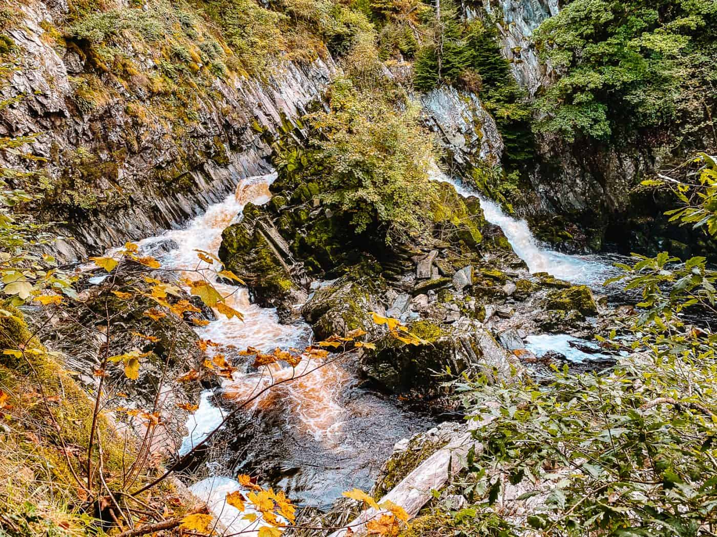 Conwy Falls Cafe Walk Waterfall Snowdonia Wales