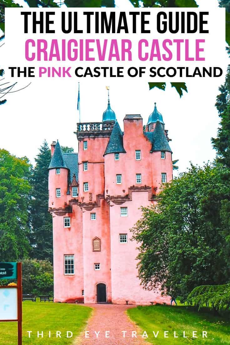 Craigievar Castle The Pink Castle in Scotland