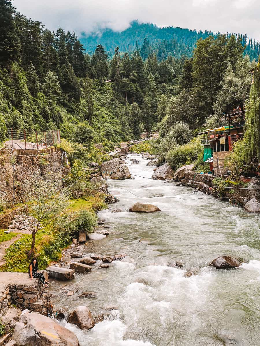 The Beas River In Manali