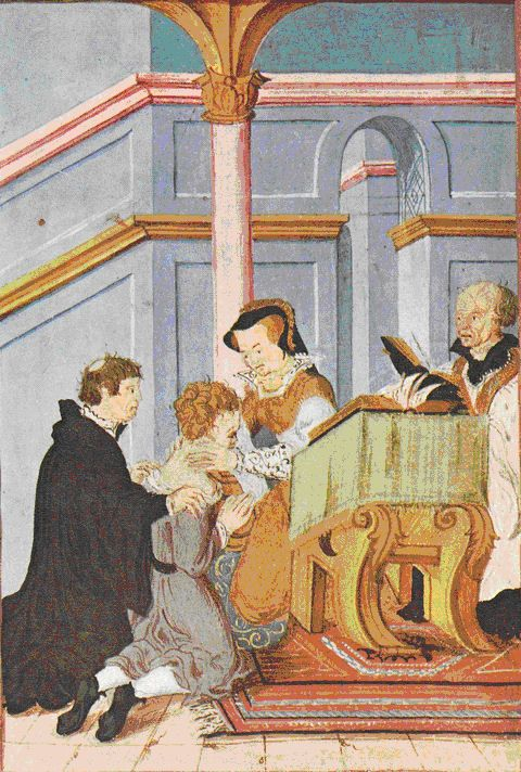 Queen Mary I of England's Maundy Service